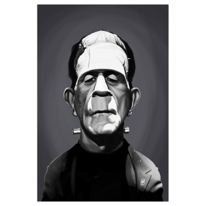 Boris Karloff  Celebrity Caricature Art Print