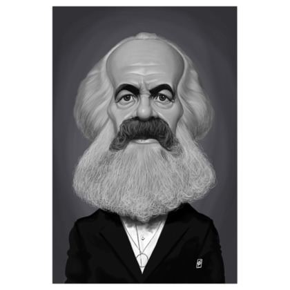 Karl Marx Celebrity Caricature Art Print
