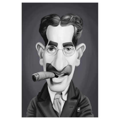 Groucho Marx Celebrity Caricature Art Print