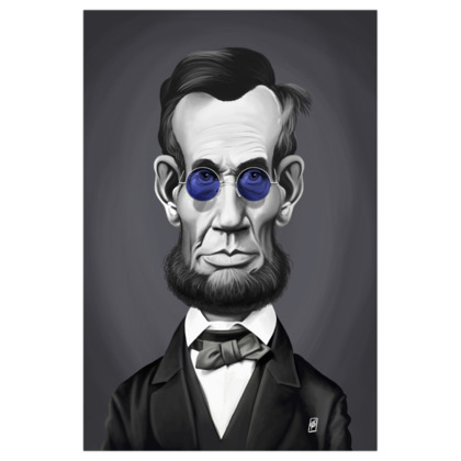 Abraham Lincoln Steampunk  Celebrity Caricature Art Print
