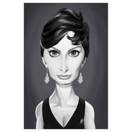 Sophia Loren Celebrity Caricature Art Print