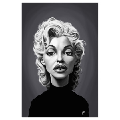 Marilyn Monroe Celebrity Caricature Art Print