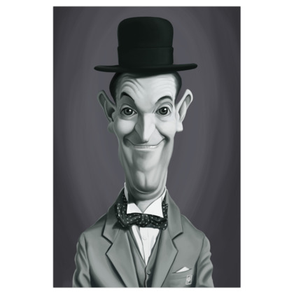 Stan Laurel Celebrity Caricature Art Print