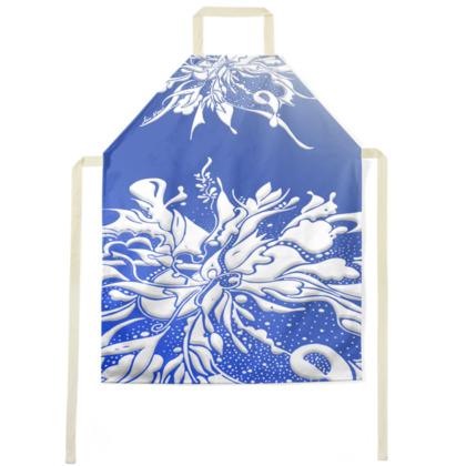 Apron - Förkläde - White ink Blue