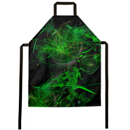 Aprons - Förkläde - Green Caos black