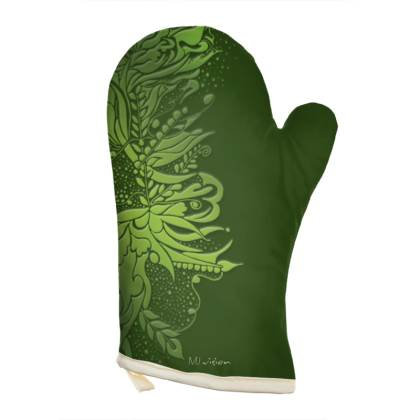 Oven Glove - Grytvante - Ink flower green