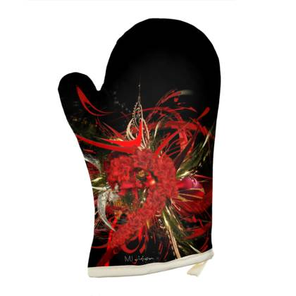 Oven Glove - Grytvante - Christmas mismatch