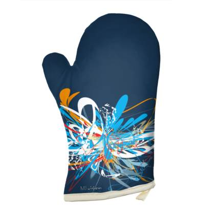 Oven Glove - Grytvante - Blue orange red