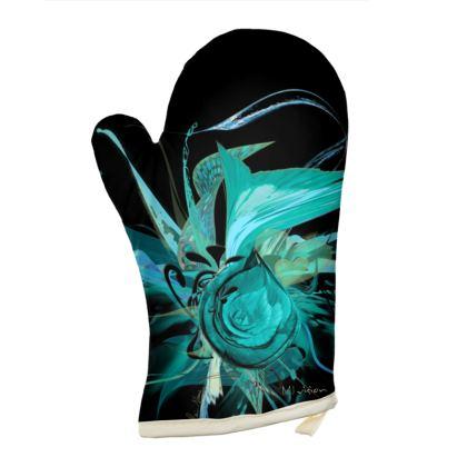 Oven Glove - Grytvante - Turquoise black