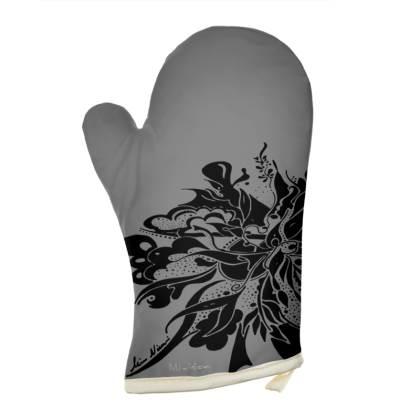 Oven Glove - Grytvante - Grey Ink Black