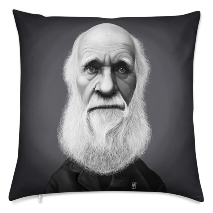 Charles Darwin Celebrity Caricature Cushion