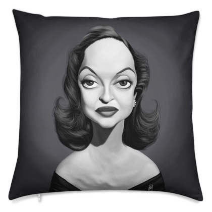 Bette Davis Celebrity Caricature Cushion