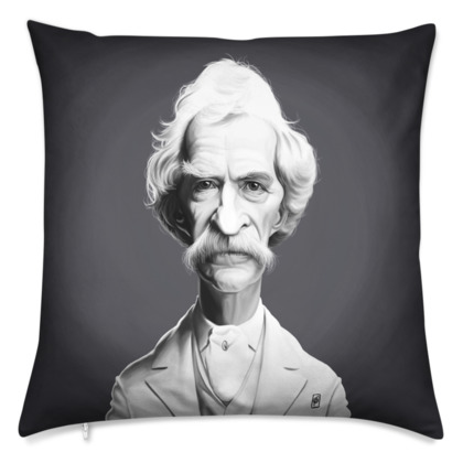 Mark Twain Celebrity Caricature Cushion