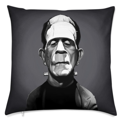 Boris Karloff Celebrity Caricature Cushion