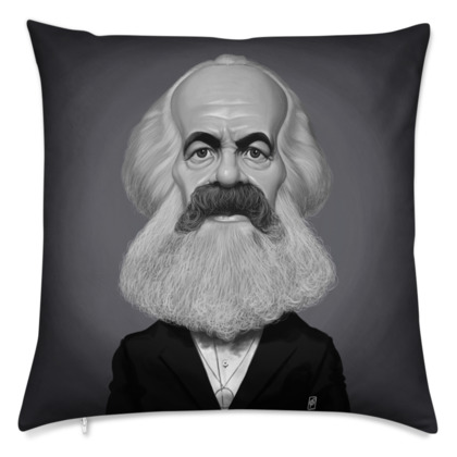 Karl Marx Celebrity Caricature Cushion