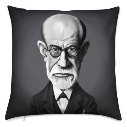 Sigmund Freud Celebrity Caricature Cushion