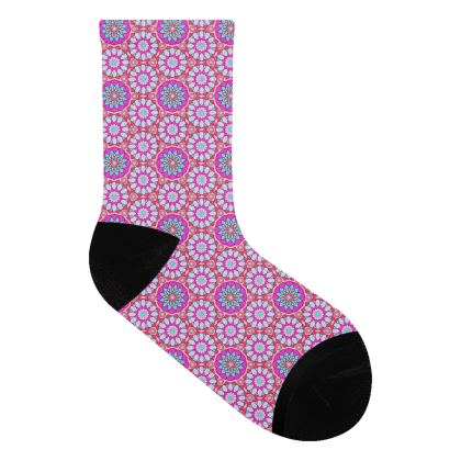 Socks Pink Flowers