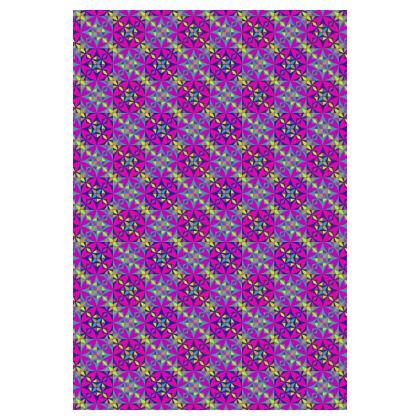 Socks Purple Mosaic Pattern