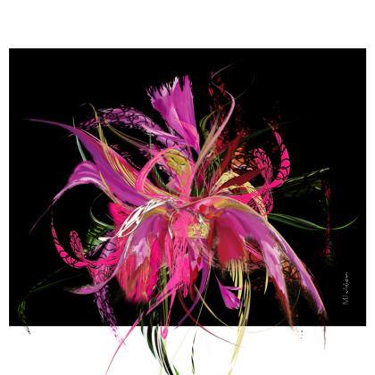 Handbag - Handväska - Pink flow black