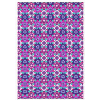 Socks Purple Flowers