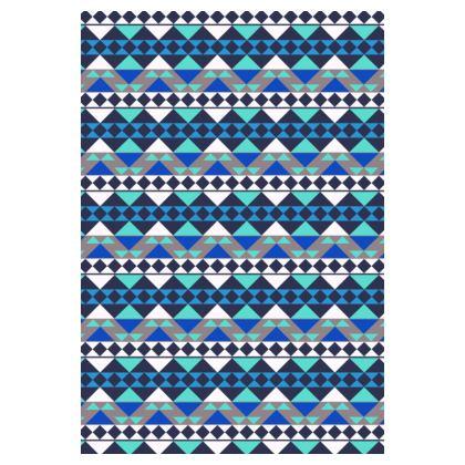 Socks Mayan Pattern Blue