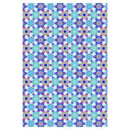 Socks Blue Floral Pattern