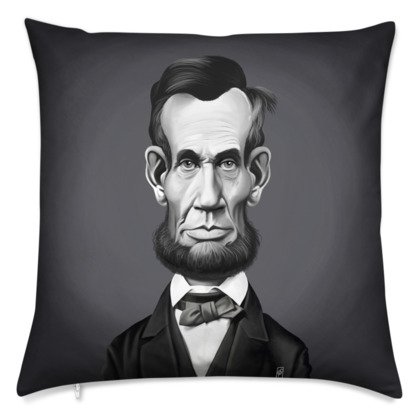 Abraham Lincoln Celebrity Caricature Cushion