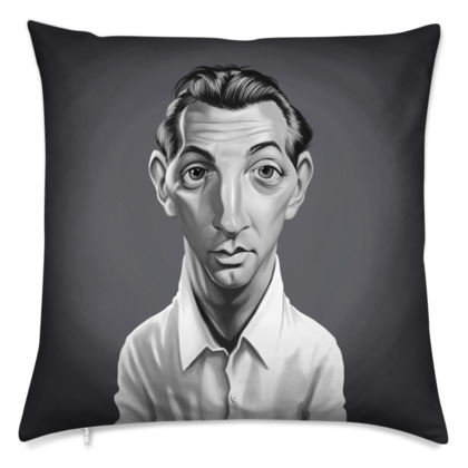 Robert Mitchum Celebrity Caricature Cushion