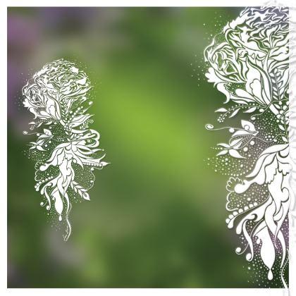 Handbag - Handväska - White ink gradient green