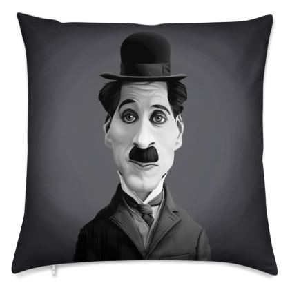 Charlie Chaplin Celebrity Caricature Cushion
