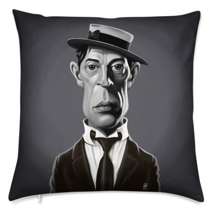 Buster Keaton Celebrity Caricature Cushion
