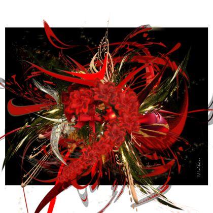 Handbag - Handväska - Christmas Mismatch black