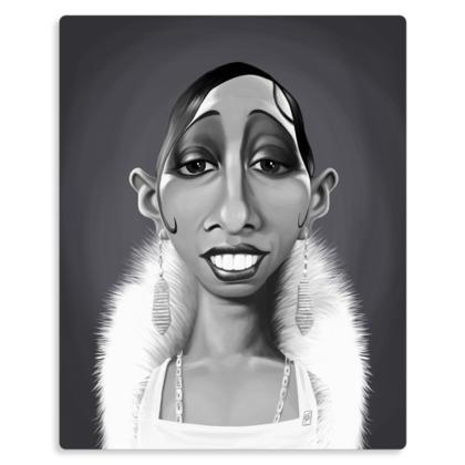 Josephine Baker Celebrity Caricature Metal Print