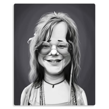 Janis Joplin Celebrity Caricature Metal Print