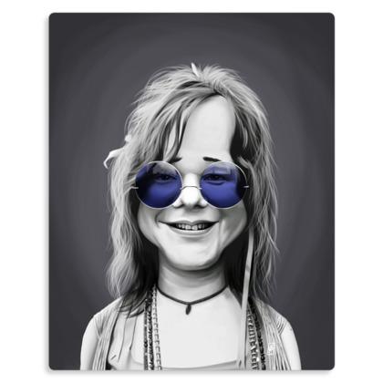 Janis Joplin Steampunk Celebrity Caricature Metal Print