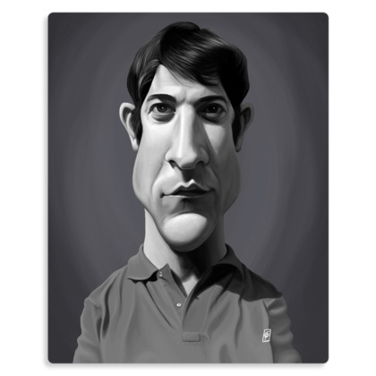 Dustin Hoffman Celebrity Caricature Metal Print