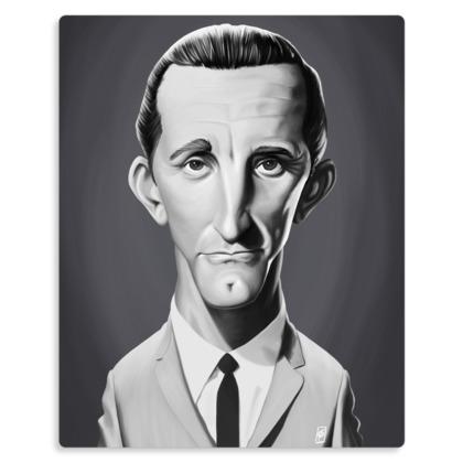 Kirk Douglas Celebrity Caricature Metal Print
