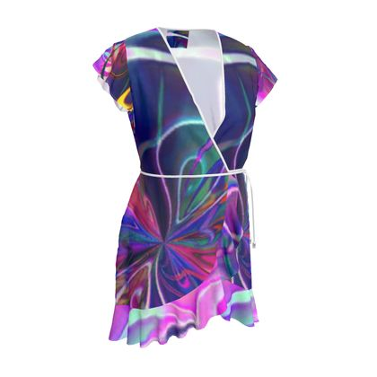 Tea Dress Purple Flower