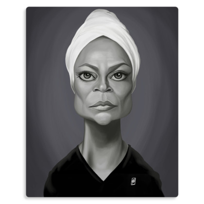 Eartha Kitt Celebrity Caricature Metal Print