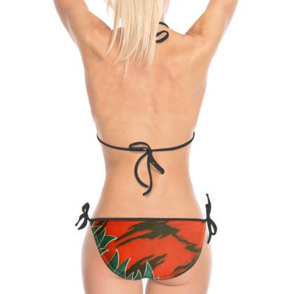 Tiger stripe bikini