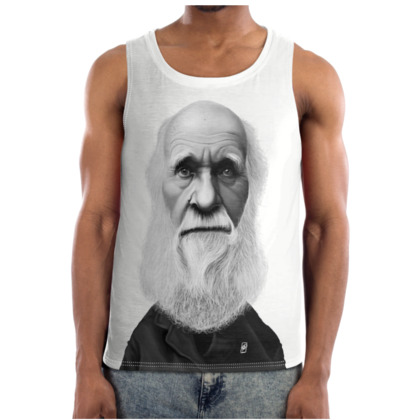 Charles Darwin Celebrity Caricature Cut and Sew Vest