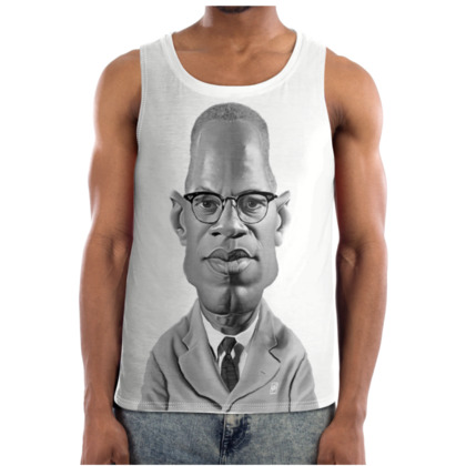 Malcolm X Celebrity Caricature Cut and Sew Vest
