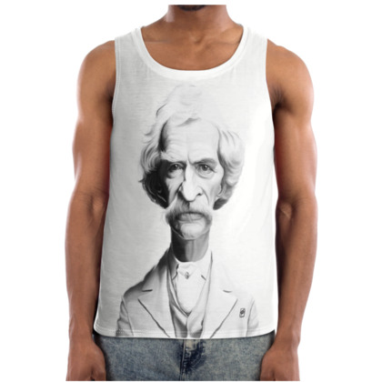 Mark Twain Celebrity Caricature Cut and Sew Vest
