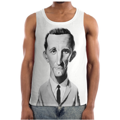 Kirk Douglas Celebrity Caricature Cut and Sew Vest