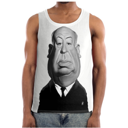 Alfred Hitchcock Celebrity Caricature Cut and Sew Vest