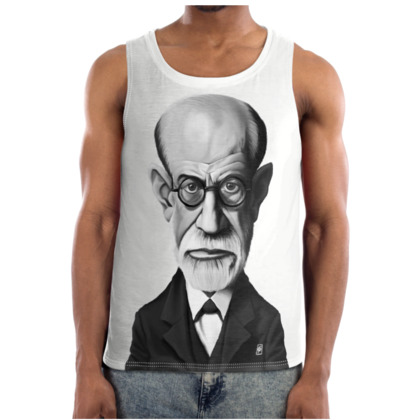 Sigmund Freud Celebrity Caricature Cut and Sew Vest