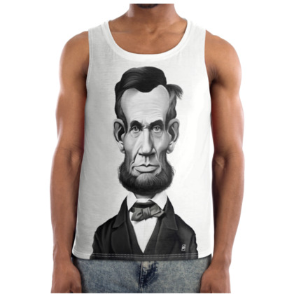 Abraham Lincoln Celebrity Caricature Cut and Sew Vest