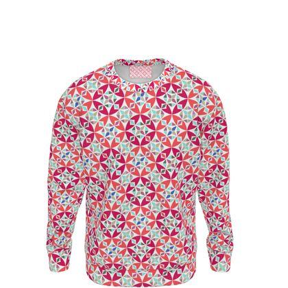 Sweatshirt Arabesque Mosaic Pattern