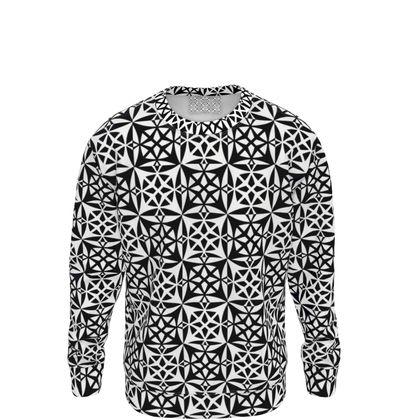 Sweatshirt Black White Mosaic