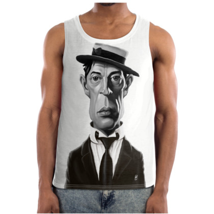 Buster Keaton Celebrity Caricature Cut and Sew Vest